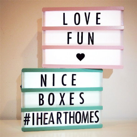 40% OFF Wooden  A5 Lightboxes With Letters